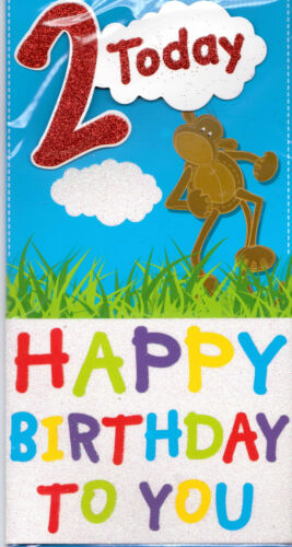 2nd Birthday Card Suitable For Boys Monkey 2 Today Happy Birthday To You