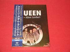 QUEEN ADAM LAMBERT LIVE IN JAPAN 2014   JAPAN DVD + CD SET