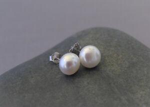 7-8mm-Genuine-Freshwater-Pearl-Earrings-925-Sterling-Silver-Pearl-Stud-Earrings