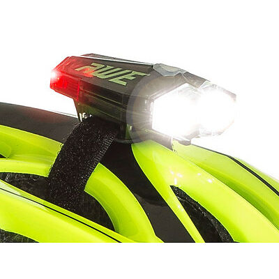 AWE® AWEDual 360°+™ USB Rechargeable Bicycle Twin Helmet Light Front/Rear