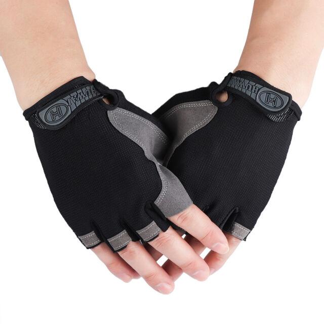 Sports Wrist Wrap Mittens Gym Men Women Non-slip Half Finger Cycling Gloves