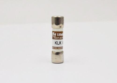 4 Amp 4 A 600V Midget Fast Acting Fuses Littelfuse KLK-4 KLK4