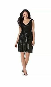 new-RRP-230-LONDON-TIMES-SEQUINED-EVENING-DRESS-8-XS-last