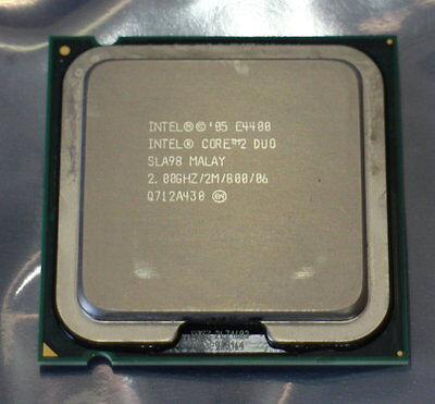 04-14-00819 Intel Core 2 Duo E4400 2,00ghz Cpu Sla98 Socket Del Processore 775-
