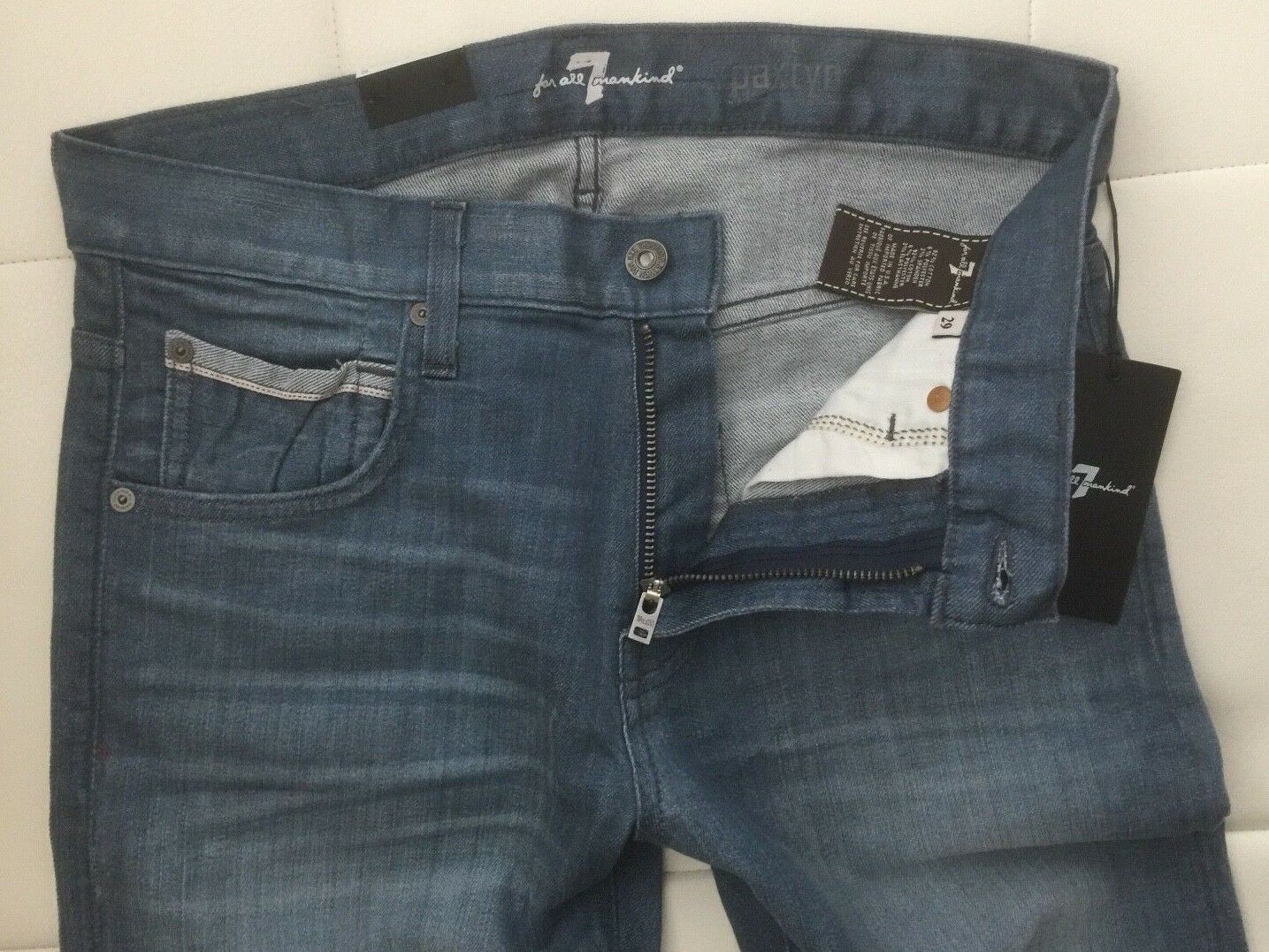 NWT - 7 For All Mankind Paxtyn Skinny Jeans (Size - 29X32   Made in USA)