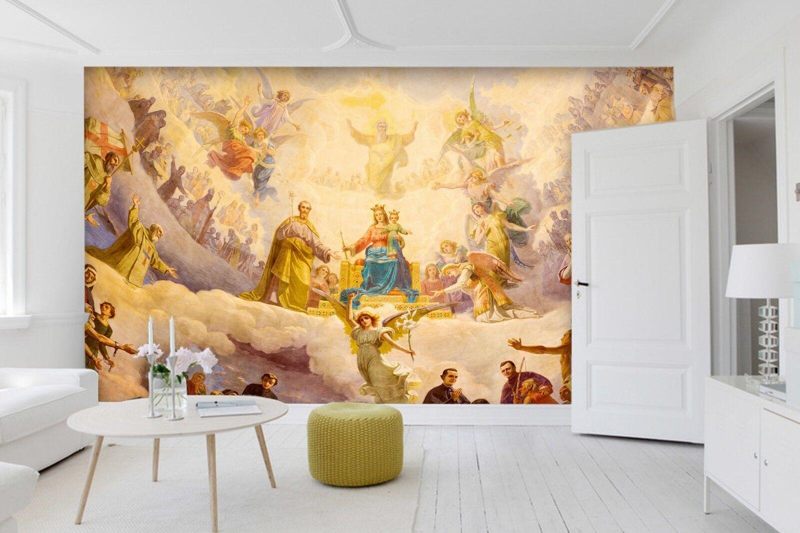 3D Paradise Party Painting 3 Wallpaper Mural Print Wall Indoor Wallpaper Murals