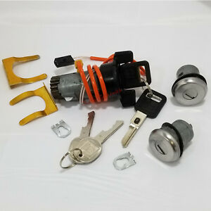 OEM-Ignition-Switch-Cylinder-2-Matching-VATS-Keys-and-2-Door-Locks-For-GM-Cars