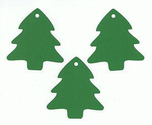 50-Christmas-Tree-Gift-Tags-3-034-Blank-Handmade-Hang-Die-Cuts-Cardstock-Paper