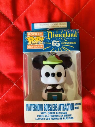 Disneyland 65th Anniversary Mickey Mouse Matterhorn Bobsleds Attraction NEW