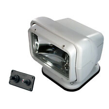 Golight Searchlight Spotlight with Permanent Dash Mount Remote Control - White