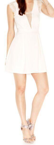 Bcbgeneration Kleid 2 Flüsster Weiße Spitze V Rücken Abendkleid Cocktailkleid