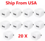 20x-1A-USB-Power-Adapter-AC-Home-Wall-Charger-US-Plug-FOR-iPhone-4-5S-6-7-8-SE miniature 1