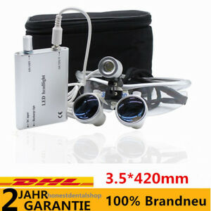 b82d3ca912ee82 3.5x 420mm Dentaire Binoculaires Loupes Magnifier Loupes LED ...