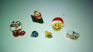 VINTAGE-CHRISTMAS-HOLIDAY-PIN-COLLECTIONS-QTY-6