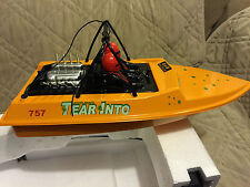 NQD WATER JET POWERED YELLOW RC RADIO CONTROL BOAT WITH 390 MOTOR