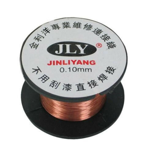 2//5//10PCS 0.1MM Copper Soldering Solder Enamelled Reel Wire Roll Connecting