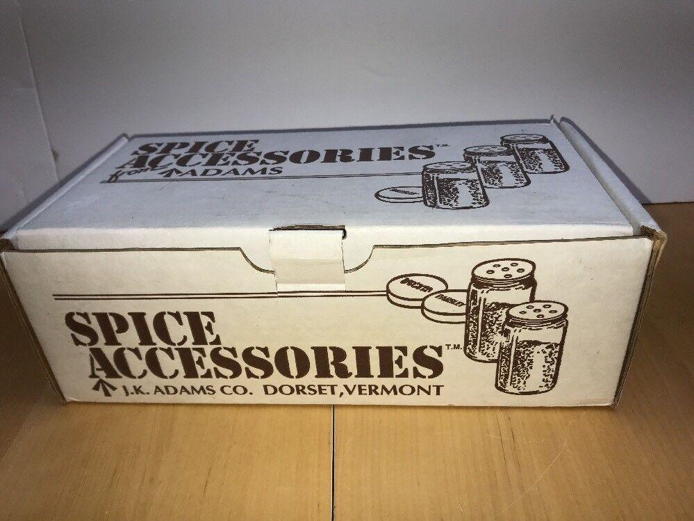 NOS In Box J.K. Adams Spice Accessories 3-1 2-Oz 16-Pc Jars W Labels