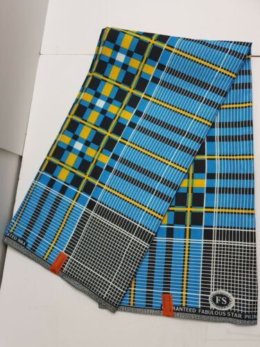 African Kente Print Fabric Ethnic Ghanian Wax Bright /& Colourful Per Yard