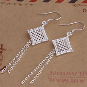 925-Striking-Eastern-Tribal-Silver-Woven-Square-Drop-Earrings-Halloween-Day