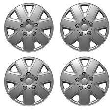 "NEW WNB Universal 16"" Inch Wheel Trims Trim Hub Caps Silver 4 pcs Set Hurricane"