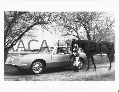 Factory Photo Ref. # 25516 1963 Studebaker Avanti w// Miss Dominion /& horse