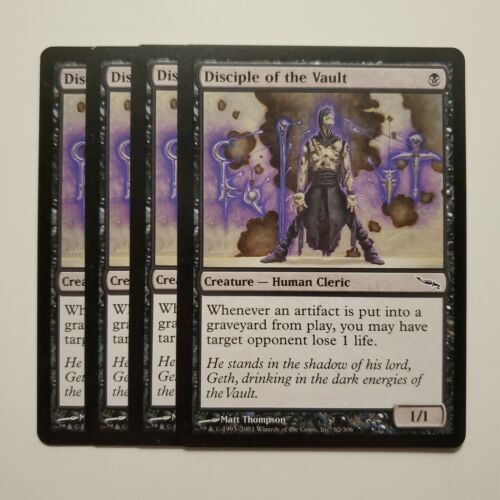 MTG Magic 4x Disciple of the Vault Mirrodin LP