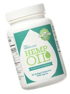 Manitoba Harvest Hemp Foods Hemp Oil Soft Gels, 1000 mg, 60 Count