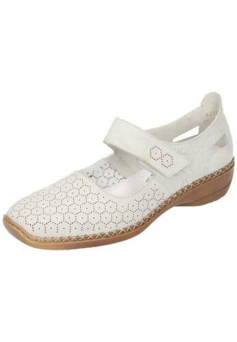 Neu24 Ballerinas 41357 36 Gr Rieker 42 Femme Mocassins Beige Slipper Chaussures 61 qPnxRwOp