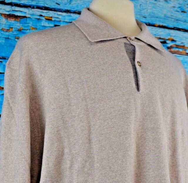 757a004c9 Black Brown 1826 Men s Long Sleeve Polo Shirt Size 4 XL NEW  69.95 Italy  Wool