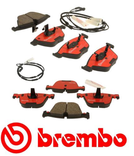 34356789445 Brembo Front /& Rear Pads w//Sensors BMW P06031N P06026N