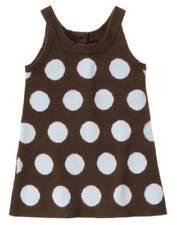 NWT Gymboree Girl's Best Friend Blue Brown Polka Dot Jumper Dress 5T 5