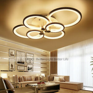 Acrylic-Modern-LED-Ring-Lamp-Chandelier-Ceiling-Light-Home-Light-Fixtur
