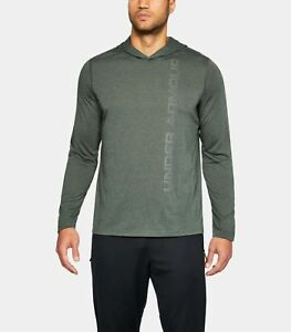 Under Armour Men/'s Black UA Threadborne Siro Long Sleeve Hooded Shirt