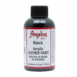 Angelus-Black-acrylic-leather-paint-Dye-4-oz-bottle-NEW-For-Shoes-Bags-Boots