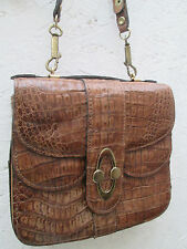-AUTHENTIQUE  sac à main   cuir croco TBEG  bag