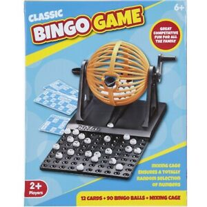 Traditional-90-Ball-Bingo-Family-Game-Set-Cage-Balls-Cards-Counter-Lotto-Lottery