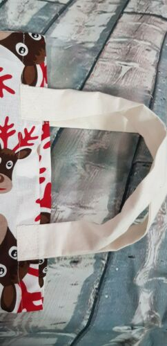 Details about  /gift shopping bag practical sewn cotton fabric bag re-usable handmade CHRISTMAS