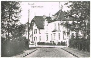 Ansichtskarte - Herford - Augustastrasse mit Villen - 1909 - schwarz/weiß - RARE