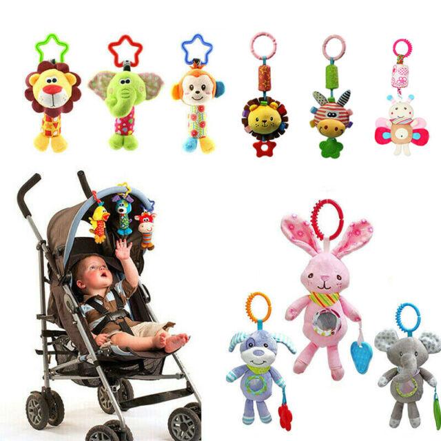 Toddler Newborn Pram Stroller Rattle Hanging Bell Baby Soft Plush Animal Toy
