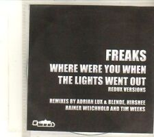 (DT735) Freaks, Where Were You When The Lights Went Out - Redux Versions - DJ CD