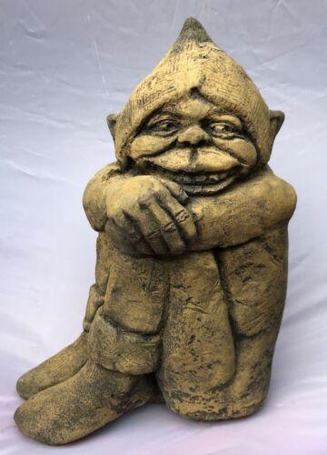 """Sorridere Pixie piskie Frost a prova di pietra a casa o decorazione giardino 23cm//9/"""" H"""
