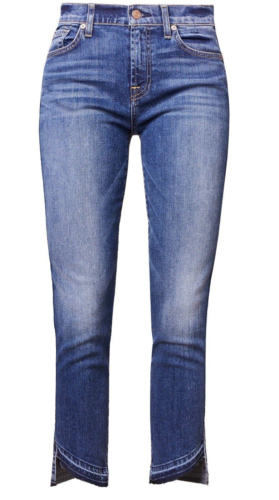 7 for all mankind ROXANNE SERRATOGA BAY Jeans Slim Fit Damen Blau W30 Neu A4165