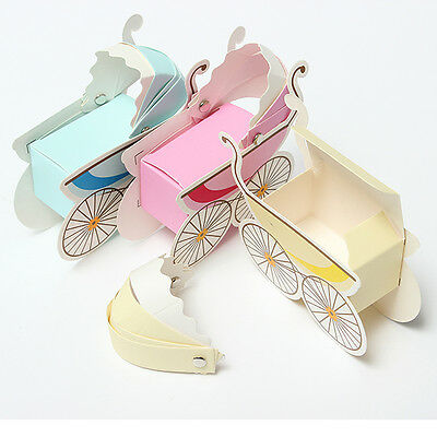 2~50pcs Candy Box Stroller Shape Box Party Wedding Baby Shower Favor Paper Gift