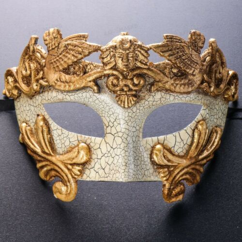 Venetian Mardi Gras Party Costume Men/'s Masquerade Mask with Feather Mask Men