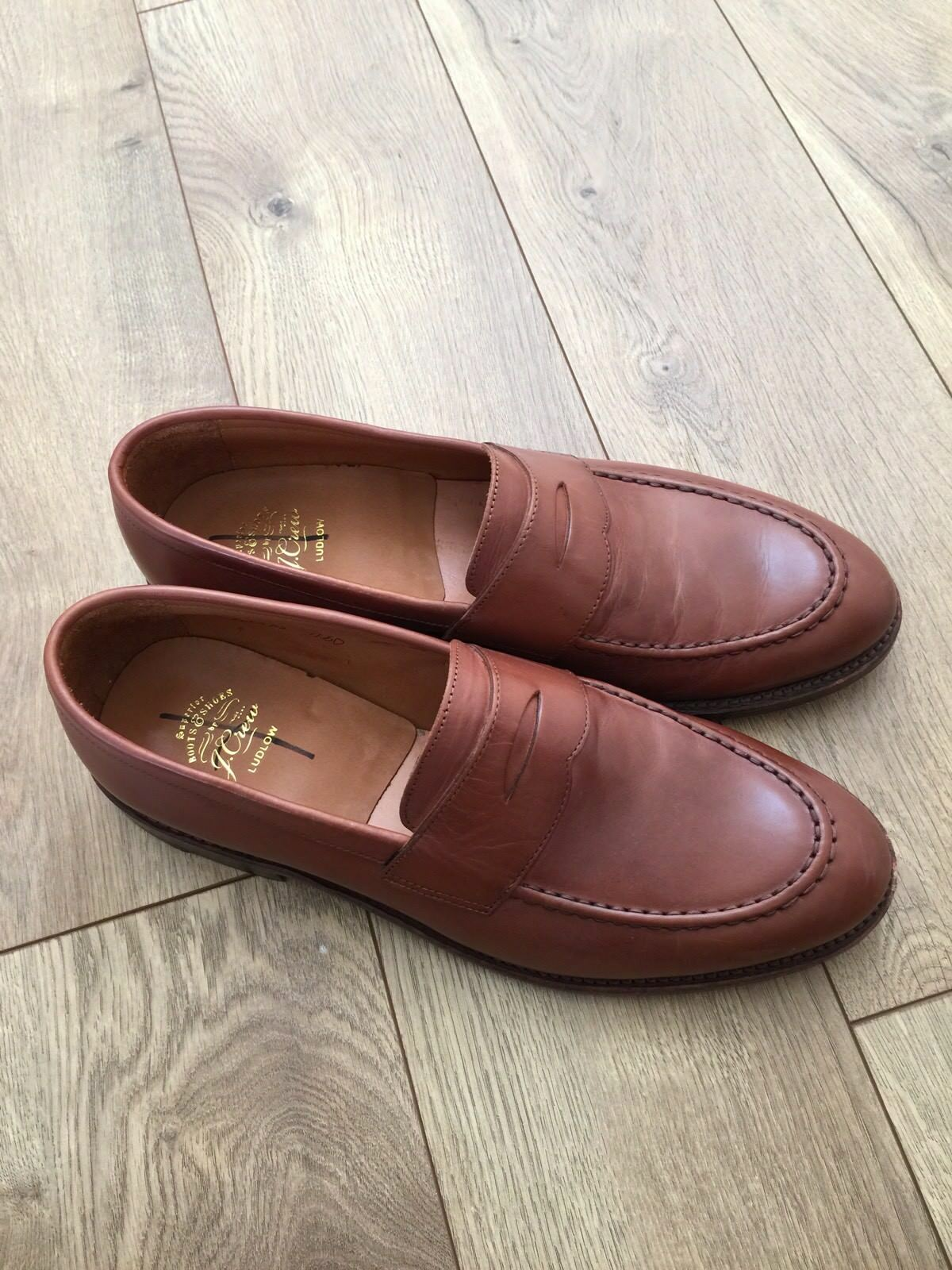 623845d3256 J.CREW MENS LUDLOW PENNY LOAFERS DRESS SHOE A4362 SIZE 11.5 D  298 ENGLISH  TAN
