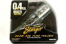 Stinger 0 or 4 Gauge AWG Shoc-Krome Inline ANL Fuse Holder Power Wire SHD201