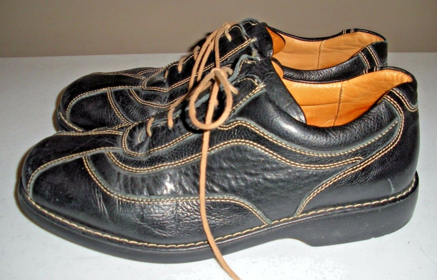 BOSTONIAN Black Leather Casual Loafer Shoes - Men's Size: 9 D - Shoes Made In Brazil e4a34e