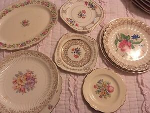 Image is loading Ten-Pieces-Mismatched-Shabby-Chic-Rose-Floral-China- & Ten Pieces Mismatched Shabby Chic Rose Floral China Dinnerware | eBay