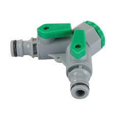 Dual 2 Way Hose Tap Connector Two Hoses One Tap Twin Valve Pipe