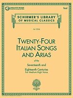 24 Italian Songs And Arias: Medium High Voice (book, Vocal Collection)